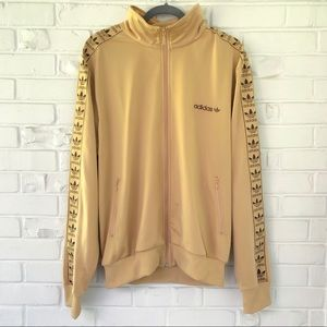 Adidas Gold Trefoil Detailed Track Jacket Size XL